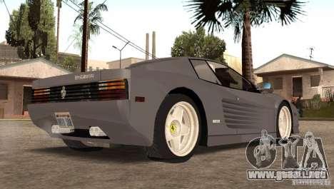 Ferarri Testarossa 1991 para GTA San Andreas left
