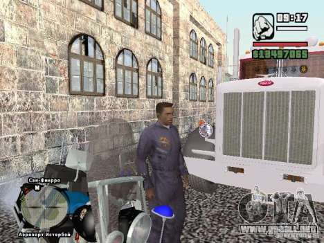 Helmet mod para GTA San Andreas quinta pantalla