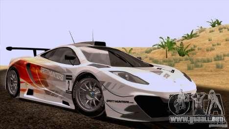 McLaren MP4-12C Speedhunters Edition para GTA San Andreas vista hacia atrás