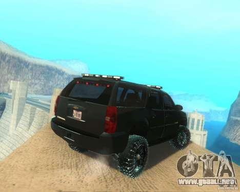 Chevrolet Suburban Crankcase Transformers 3 para GTA San Andreas vista posterior izquierda