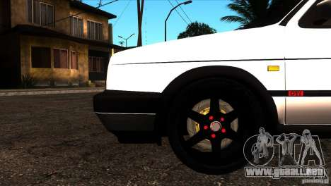VW Golf 2 para vista inferior GTA San Andreas