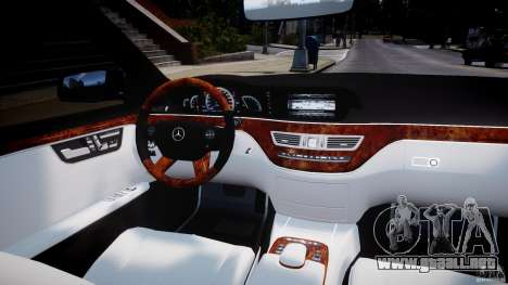 Mercedes-Benz S63 AMG [Final] para GTA 4 interior