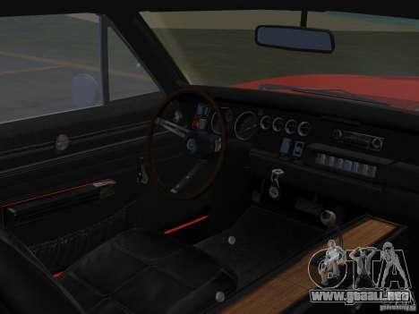 Dodge Charger 426 R/T 1968 v1.0 para GTA Vice City vista posterior
