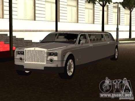 Rolls-Royce Phantom Limousine 2003 para GTA San Andreas