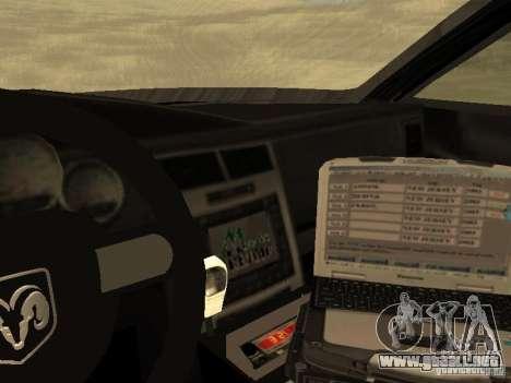 Dodge Charger Canadian Victoria Police 2011 para vista lateral GTA San Andreas