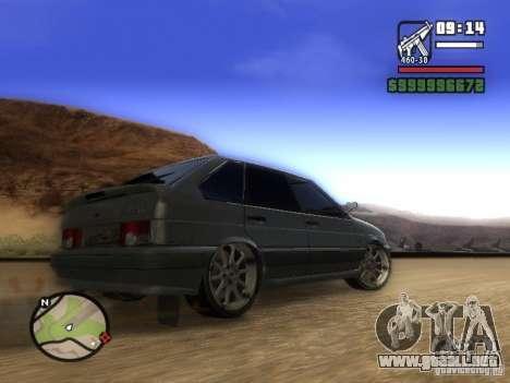 ВАЗ 2114 Tuning para la visión correcta GTA San Andreas