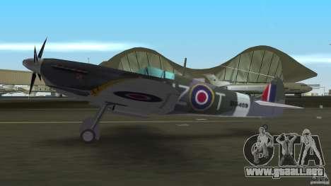 Spitfire Mk IX para GTA Vice City visión correcta