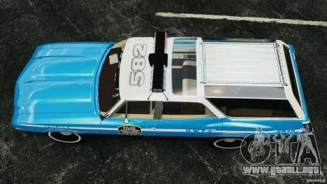 Oldsmobile Vista Cruiser 1972 Police v1.0 [ELS] para GTA 4 visión correcta