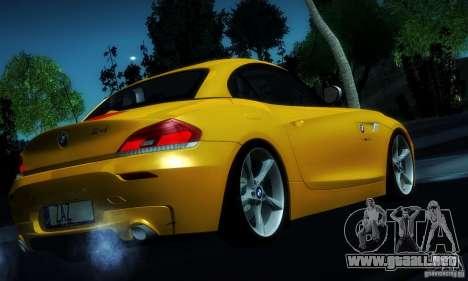 BMW Z4 Stock 2010 para la vista superior GTA San Andreas