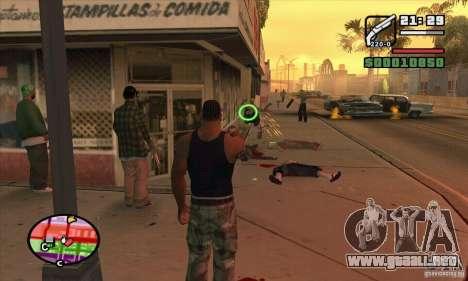 Nueva vista para GTA San Andreas quinta pantalla