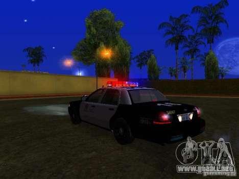 Ford Crown Victoria San Andreas State Patrol para la vista superior GTA San Andreas