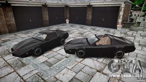 KITT Knight Rider para GTA 4 vista desde abajo