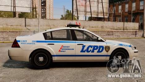 Policía Pinnacle ESPA para GTA 4 left