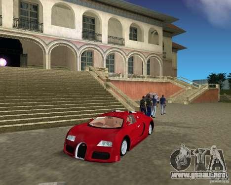 Bugatti Veyron para GTA Vice City left