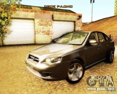 Subaru Legacy 3.0 R tuning para la visión correcta GTA San Andreas