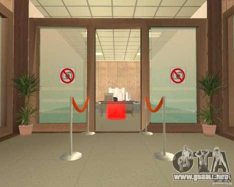 Banco en Los Santos para GTA San Andreas tercera pantalla