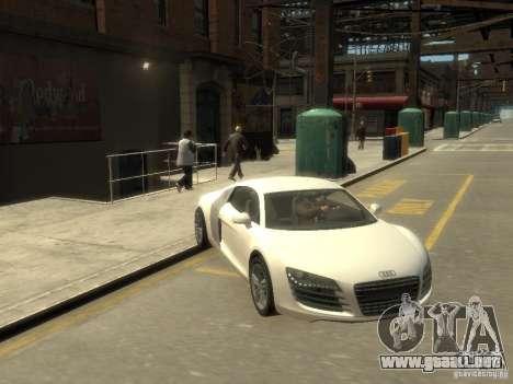 Audi R8 NFS Shift para GTA 4 vista hacia atrás
