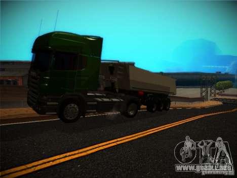 Scania R580 para GTA San Andreas vista hacia atrás