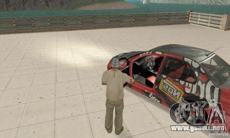 Mitsubishi Lancer Evolution 8 para GTA San Andreas vista hacia atrás