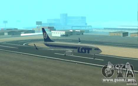 Boeing 737 LOT Polish Airlines para la vista superior GTA San Andreas