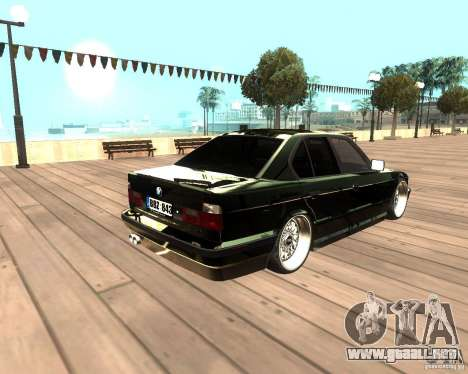 BMW M5 E34 Street para GTA San Andreas left