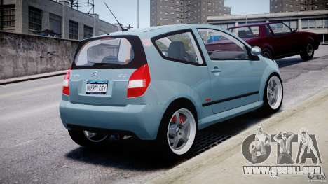Citroen C2 Light Tuning [Beta] para GTA 4 Vista posterior izquierda