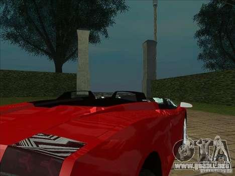 Lamborghini Concept S para GTA San Andreas vista hacia atrás