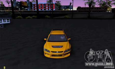 Mitsubishi Lancer Evolution IX 2006 para GTA San Andreas left