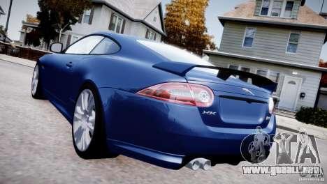 Jaguar XKR-S 2012 para GTA 4 vista hacia atrás