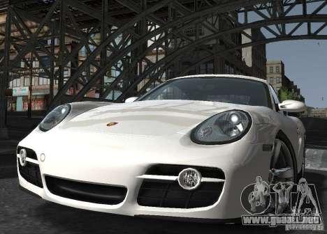 Porsche Cayman S1 para GTA 4 vista hacia atrás