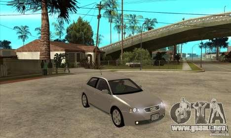 Audi S3 para GTA San Andreas vista hacia atrás