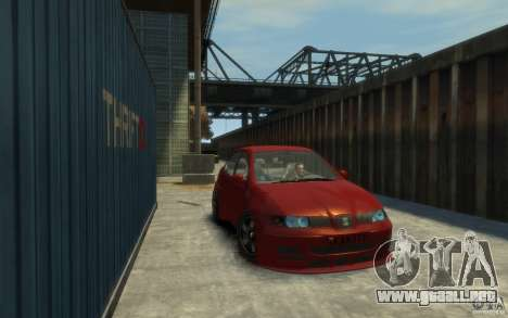 Seat Toledo 1.9TDi Sedan para GTA 4 Vista posterior izquierda