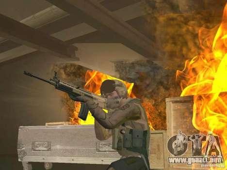 Piloto militar para GTA San Andreas segunda pantalla