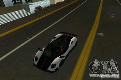 Pagani Zonda Cinque Roadster 2010 para GTA Vice City visión correcta