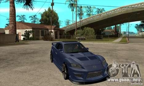 Mazda RX8 para GTA San Andreas vista hacia atrás