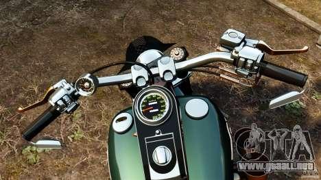Harley Davidson Fat Boy Lo Racing Bobber para GTA 4 vista hacia atrás