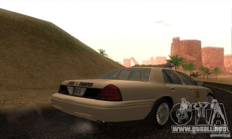 Ford Crown Victoria Iowa Police para GTA San Andreas left