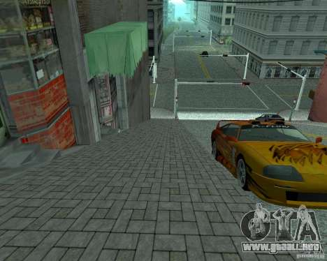 Nuevos caminos en San Fierro para GTA San Andreas sucesivamente de pantalla