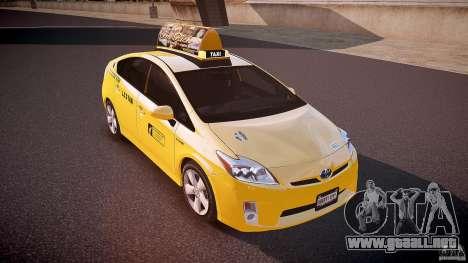 Toyota Prius LCC Taxi 2011 para GTA 4 vista lateral
