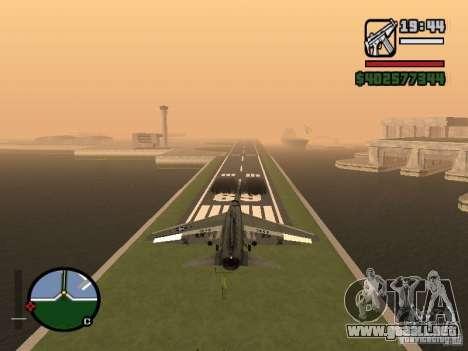 A-7 Corsair II para GTA San Andreas vista posterior izquierda