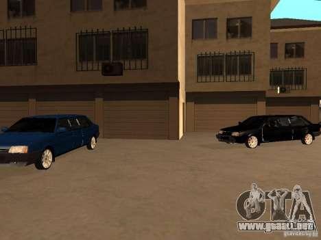 VAZ 21099 Limousine para la vista superior GTA San Andreas