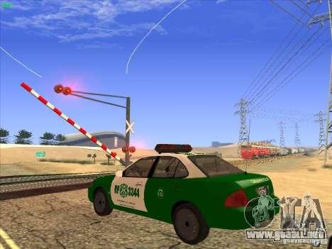 Nissan Sentra Carabineros De Chile para visión interna GTA San Andreas