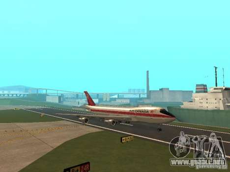 Boeing 747 Air Canada para visión interna GTA San Andreas