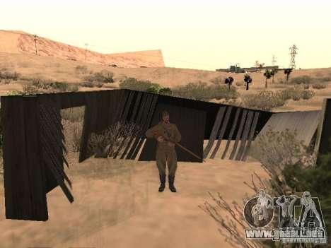 Piel de soldado soviético de II Guerra Mundial para GTA San Andreas segunda pantalla