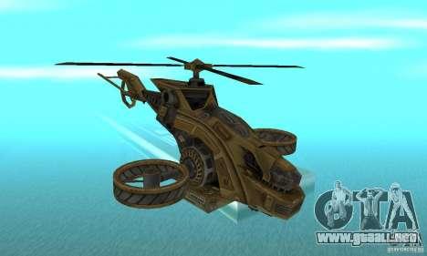 Un helicóptero desde el juego TimeShift Brown para GTA San Andreas