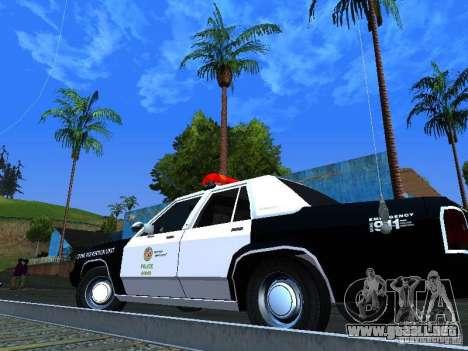Ford Crown Victoria LTD 1992 LSPD para GTA San Andreas vista hacia atrás