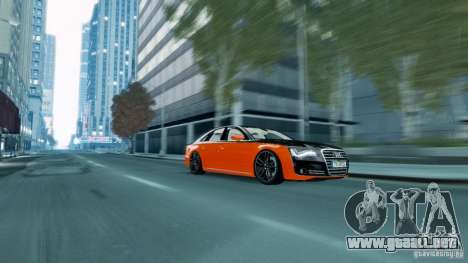Audi A8 LED 2012 para GTA 4 left