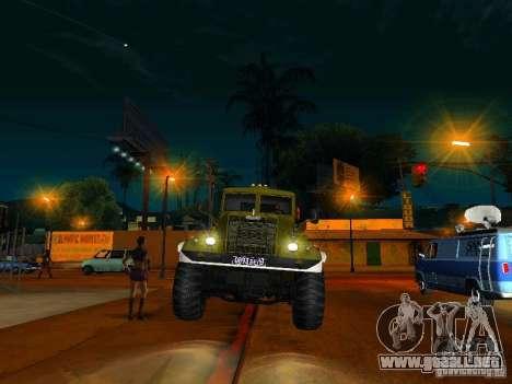 Camión KrAZ desfile para GTA San Andreas vista hacia atrás