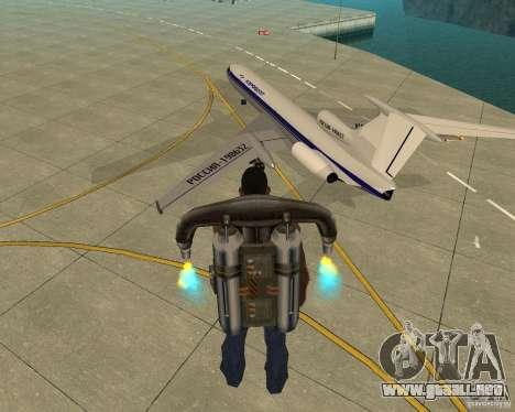 El Tu-154 para GTA San Andreas left