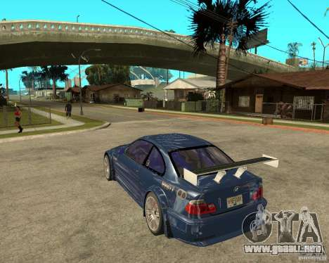 BMW M3 GTR de Need for Speed Most Wanted para GTA San Andreas left